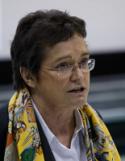<p>La conférencière invitée, Pre Michelle Bergadaà, présidente de l'Institut international de recherche et d'action sur la fraude et le plagiat académique</p>