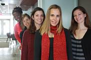 Les cinq marraines : Sarah Yapi, Julie Lamontagne, Candice Bernard, Marjorie Peyric et Mélanie Bourque.