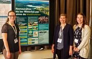 Sur la photo : Justine Sirois, Alice Boisvert-Chapdelaine et Virginie Simard