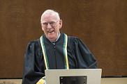 Le professeur Jean Morisset, premier doctorant de l'Université de Sherbrooke
