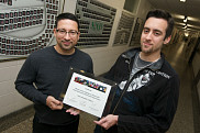 Pierre-Marc Jodoin et Michaël Bernier ont terminé deuxièmes d'une compétition de la MICCAI 2014 et premiers dans la catégorie des méthodes semi-automatiques.