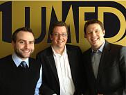 Les trois fondateurs de Lumed:Mathieu Beaudoin, Dr Louis Valiquette et Vincent Nault