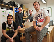 L'équipe Brico, Mathieu Allaire, Charles Vallières, David Bilodeau et Samuel Roy