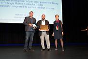 Jean-Fran&ccedil;ois Pratte, lors de la remise du Prix&nbsp;<em>2018 Radiation Instrumentation Early Carrier Award.&nbsp;</em>