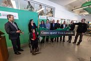 Le dévoilement de la nouvelle dénomination du Centre sportif de l'UdeS s'est fait en présence des proches d'Yvon Lamarche et de nombreuses personnalités s'étant déplacées pour l'occasion.