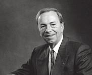 Le professeur Aldée Cabana, sixième recteur de l'Université de Sherbrooke, de 1985 à 1993.
