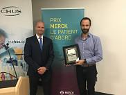 Fran&ccedil;ois Lamontagne a re&ccedil;u le<div>Prix Merck <em>Le patient d'abord,</em></div><div><em></em>le 12 juin 2018.</div>
