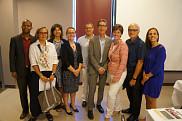 La délégation de l'Université en compagnie de la ministre Marie-Claude Bibeau, le 3 août dernier.