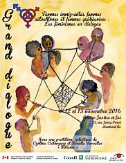 Affiche annon&ccedil;ant le Grand dialogue, destin&eacute; &agrave; rapprocher des femmes de tout horizon<br>