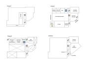 Le Studio de cr&eacute;ation sera sur 3 niveaux. Voici de fa&ccedil;on g&eacute;n&eacute;rale comment la r&eacute;partition des espaces a &eacute;t&eacute; pens&eacute;e.<span>&nbsp;</span>