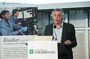 <p>Monsieur Jocelyn Gaudet, chef technologie, et responsable plateforme Production chez Hydro-Qu&eacute;bec, a parl&eacute; au nom des partenaires de la chaire.<br></p>