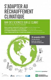 Le Bar des sciences sur le climat aura lieu le 26 novembre prochain et abordera le réchauffement et les changements climatiques sous tous ses angles.