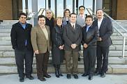 Les partenaires de l'Escuela de Ciencias de la Educación et de l'Universidad Autónoma de Nuevo León en compagnie de représentants de la Faculté d'éducation de l'UdeS.