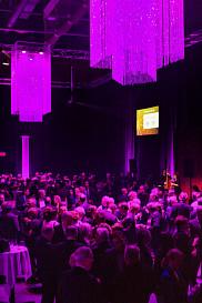 Quelque 400 personnes ont pris part au Gala du rayonnement au pavillon Univestrie de l'Université, transformé en élégante salle de gala pour l'occasion.