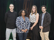Louis-Philippe Morency (biochimie), Fabienne Gbaguidi (orientation professionnelle), Erika Miklosic&nbsp;(droit) et Charles-Antoine Barbeau-Meunier (m&eacute;decine). <br>
