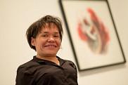 Isabelle Renaud est l'artiste de l'exposition Point de rosée présentée du 29 octobre au 19 décembre à la Galerie d'art du Centre culturel.
