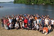 Participants de l'École d'été canadienne en informatique quantique au Centre de villégiature Jouvence en Estrie.