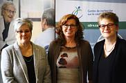 De gauche à droite: Suzanne Garon, professeure-chercheuse au CDRV et à l'École de travail social; Nicole Dubuc, directrice du CDRV; et Marie Beaulieu, professeure-chercheuse au CDRV et à l'École de travail social.
