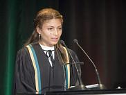 L'épouse de Raif Badawi, Ensaf Haidar a su émouvoir l'auditoire en faisant la lecture d'un texte rédigé par Raif Badawi.