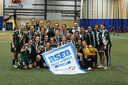 L'équipe championne de la ligue universitaire de soccer intérieur 2012: le Vert&Or!