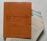 <span>Titres envisag&eacute;s par Anne H&eacute;bert pour son roman&nbsp;</span><em>Kamouraska&nbsp;</em><span>sur la couverture de la premi&egrave;re version du manuscrit, vers 1966.</span>