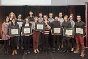 Les lauréats des prix d'honneur du Défi étudiant 2019.