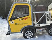 Ce véhicule électrique sert au transport des matières à valoriser.
