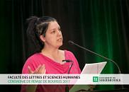 Caroline Leblanc, étudiante à la maîtrise en travail social.