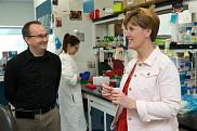Le professeur Fran&ccedil;ois-Michel Boisvert a eu l'occasion de faire visiter son laboratoire situ&eacute; au Pavillon de recherche appliqu&eacute;e sur le cancer &agrave; la ministre Marie-Claude Bibeau.<br>