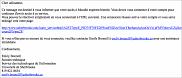 Exemple du courriel d'hame&ccedil;onnage<br>