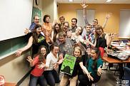 Toute la troupe de la production «Shrek, la comédie musicale», présentée par Broadway FMSS.