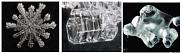 La métamorphose des grains de neige : du flocon en étoile (à gauche) vers le givre de profondeur en gobelet (au centre) au grain arrondi en fusion (à droite).