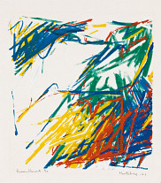 Jacques Hurtubise, <em>Rassemblement</em>, 1961, s&eacute;rigraphie, 63&nbsp;x&nbsp;51&nbsp;cm<em></em>.<br>