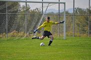 La gardien du Vert &amp; Or, Guillaume Proulx, a jou&eacute; de tr&egrave;s bons matchs la fin de semaine derni&egrave;re &agrave; Victoriaville et &agrave; Sherbrooke.<br><br>Photo: Vert &amp; Or