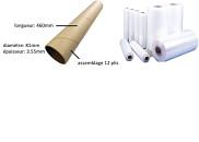 Figure 1 : Illustration du tube en carton avec et sans film plastique (d'après N. Quaegebeur, 2017)