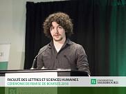 Gabriel Boulanger-Samson, &eacute;tudiant au baccalaur&eacute;at en musique et r&eacute;cipiendaire d&rsquo;une bourse en 2017.<br>