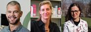 P<sup>r</sup> Florian Meyer, P<sup>re</sup> Marylin Steinbach et P<sup>re</sup> Jo Anni Joncas, membres du corps professoral au Département de pédagogie de la Faculté d