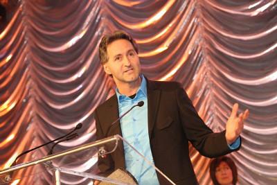Mario Trépanier, directeur du Centre culturel, au Gala Reconnaissance Estrie du 20 février.