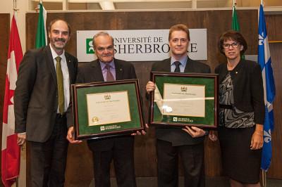 Les professeurs Serge Jandl et Patrick Fournier sont les lauréats 2015 en sciences naturelles et génie.