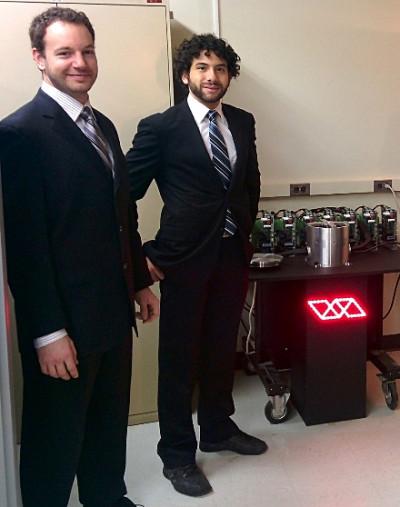 Les deux lauréats du prix Entrepreneuriat, affaires et vie économique,Philippe Beauchamp et Rami Jarjour.