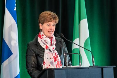 L'honorable Marie-Claude Bibeau, députée de Compton–Stanstead et ministre de l'Agriculture et de l'Agroalimentaire