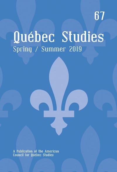 «Nouvelles perspectives sur Louis Dantin et les États-Unis», sous la direction de Pierre Hébert, Quebec Studies, volume 67, 2019, 197p.