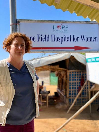 Isabelle Ouellet lors de sa dernière mission au Bangladesh.