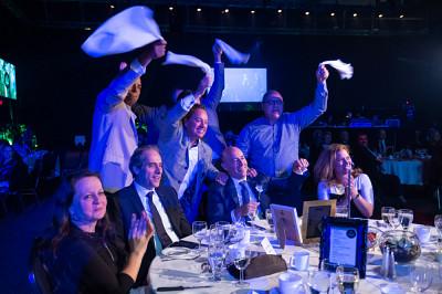 16 des amis de M. Marcoux qui ont fréquenté d'UdeS étaient présents pour participer au Gala. Un moment de grande fierté.
