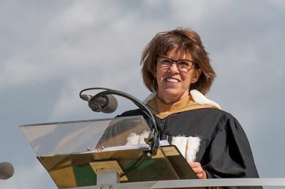 La rectrice de l'Université de Sherbrooke, Luce Samoisette.