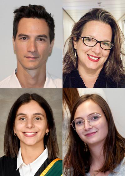 Hugo Dion-Gauthier,Danielle Faubert, Alessandra Palumbo et Bénédicte Philippe.