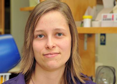 Audrey Normandin, étudiante à la maîtrise au Département de physiologie et biophysique