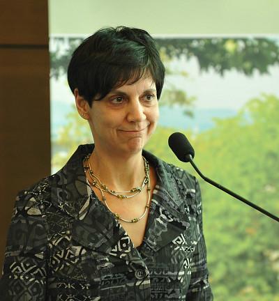La titulaire Élise Roy