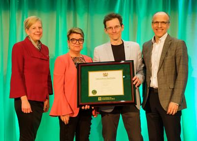 Le chargé de cours Benoît Leblanc, lauréat de la Grande distinction en enseignement universitaire pour le volet individuel