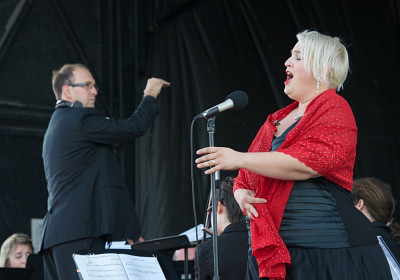La cantatrice Catherine Elvira Chartier